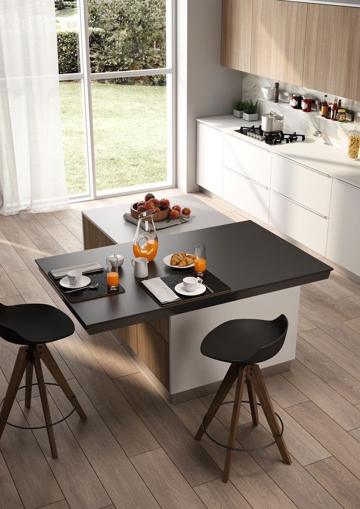 Twice Top Use This Sliding Top On Both Sides Of The Kitchen Island Atim