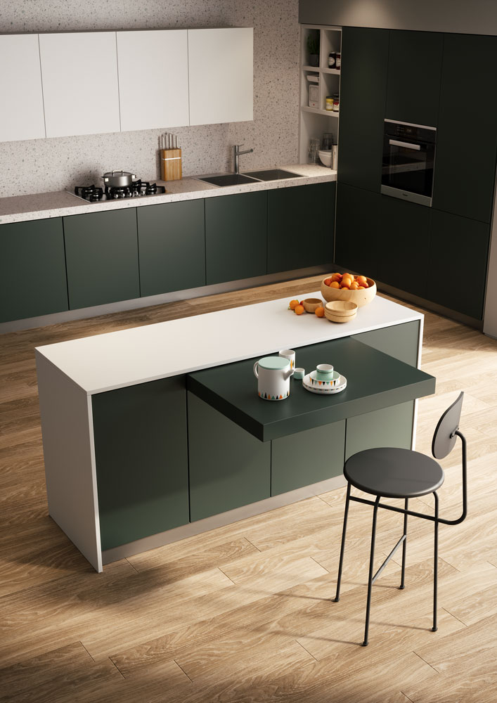 Twice Use This Sliding Table On Both Sides Of The Kitchen Island Atim